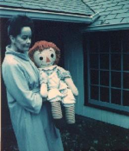 Loraine Warren Holding Annabelle