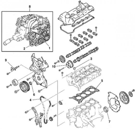 2004 Mazda 3 Engine Compartment Diagram, 2004, Free Engine