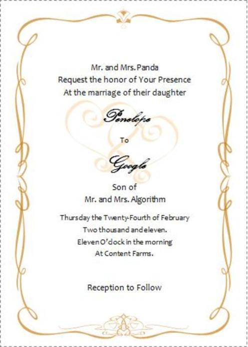 Word Wedding Invitation Template Free Wedding Invitation Sample – Wedding Invitations Free Templates for Word