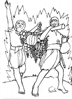 joshua and caleb coloring pages : Marie's blog