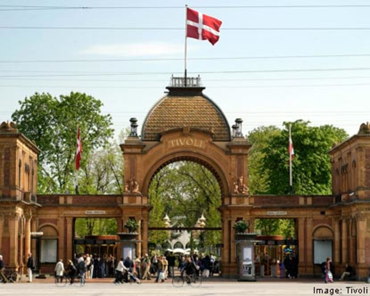 The Tivoli Gardens in Denmark