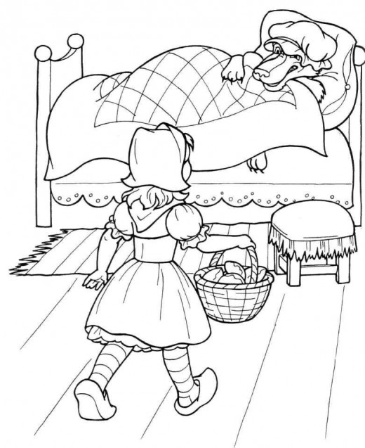 Little red riding hood printable coloring pages