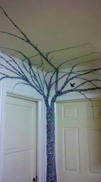 How To Create Beautiful Wall Art Using $4.00 of Contact Paper