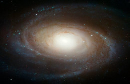 This one is called- Spiral-galaxy      Barred Spiral Galaxy is adrift in a sea of galaxies!