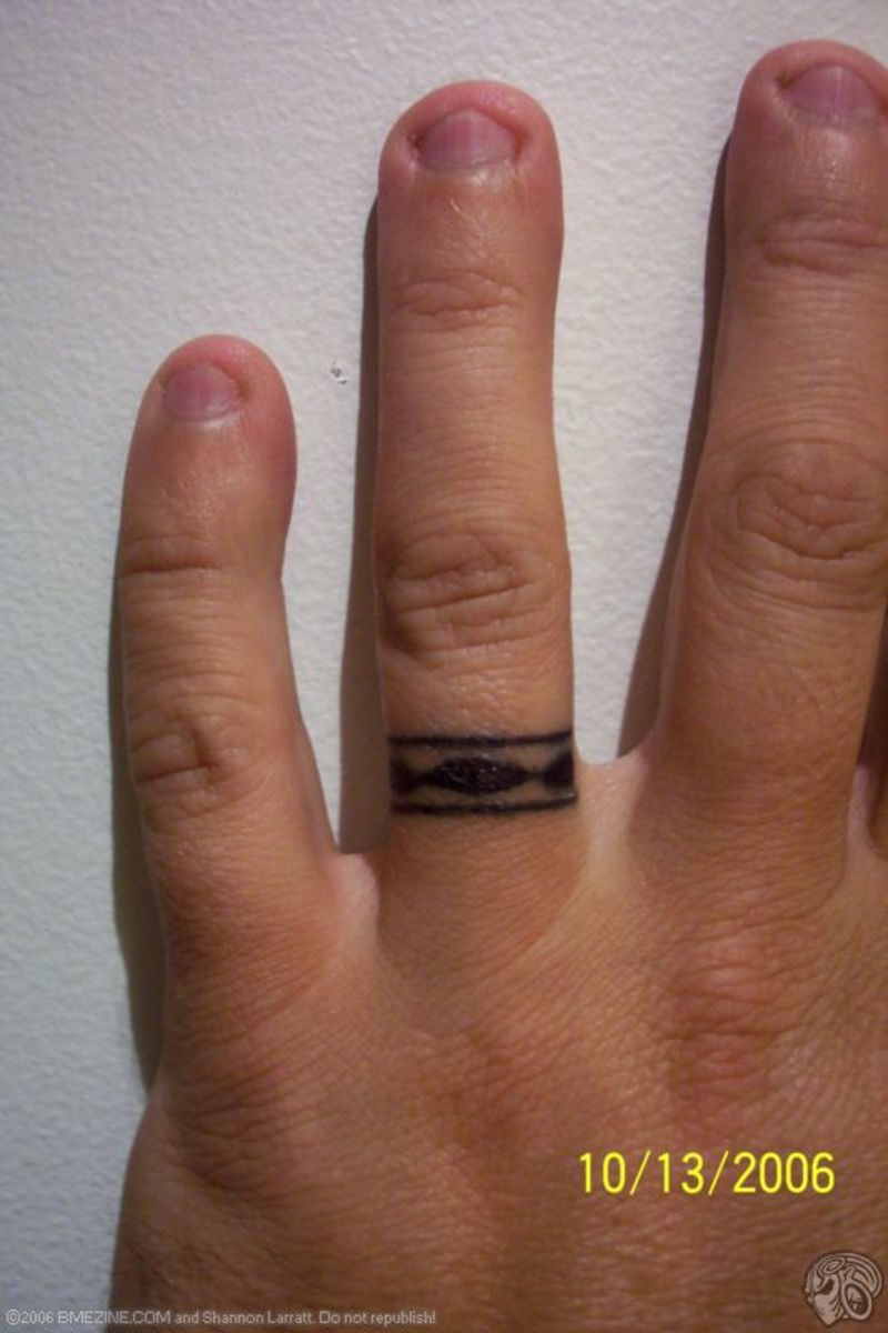 As a popular alternative to traditional rings, wedding ring tattoos serve as