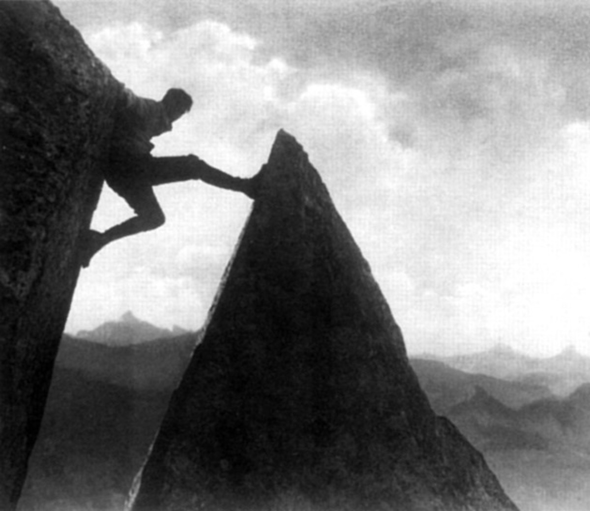 "Screenshot of 1924 ""Mountain of Destiny"" featuring Lewis Trenker who Leni would use for her own personal gain"