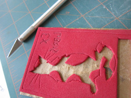 Finished stamp for my bookplate.