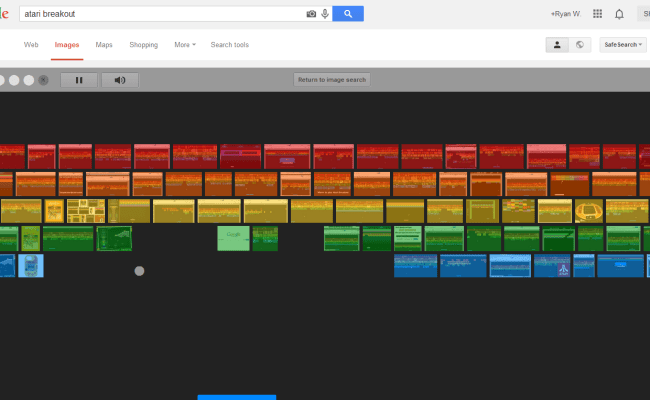Google Atari Breakout Latest Easter Egg Transforms
