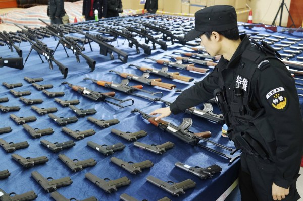 China Seizes 10000 Illegal Guns In Weapons Raid As Gun