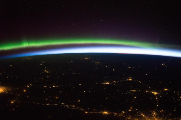 Earth From Space Northern Lights