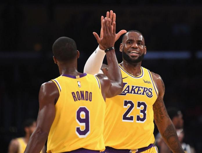 023cdf610d9 LeBron James electrifies Lakers Crowd while talking about     39 ...