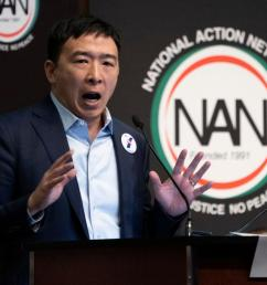presidential election 2020 candidate andrew yang promises free cash to everyone if elected [ 1200 x 817 Pixel ]