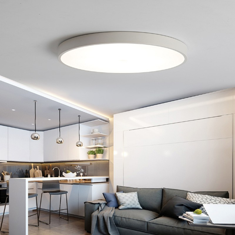 Bright 24W Round LED Ceiling Down Light Panel Wall Kitchen Bathroom Lamp White  eBay