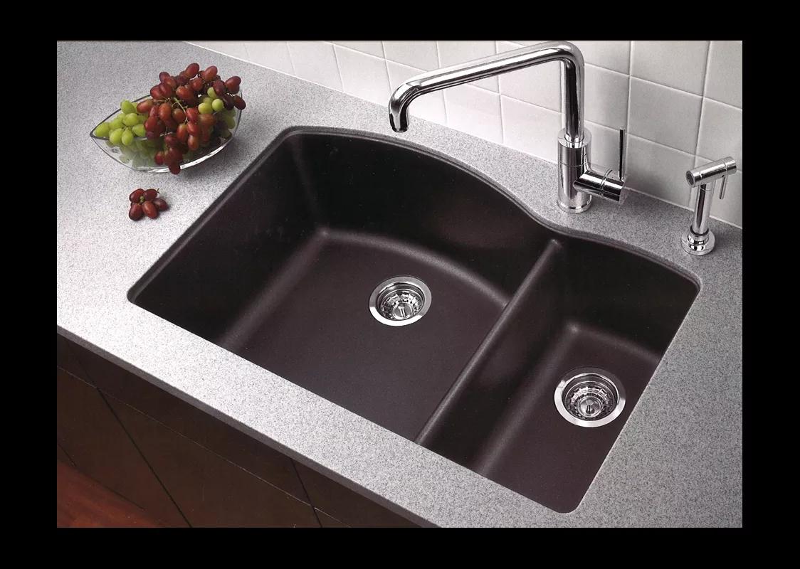 blanco undermount kitchen sinks gray subway tile 440179 anthracite sink build