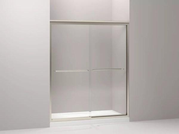 Kohler -702206-l-abv Brushed Bronze Fluence Frameless Bypass Shower Door With Clear Glass - 56