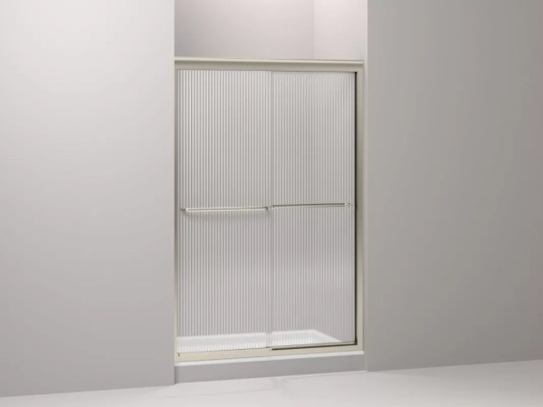 Kohler -702208-g54-abv Anodized Brushed Bronze Fluence Frameless Bypass Shower Door With