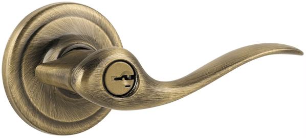 Kwikset 740tnl-5s Antique Brass Tustin Keyed Entry Door Leverset With Smart Key Form