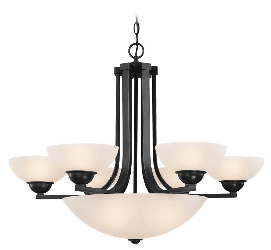 Dolan Designs 20546 Warm Bronze Fireside 9 Light 1 Tier