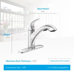 Moen Renzo Kitchen Faucet Samples 87039 Chrome Single Handle With ...