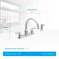 Moen Caldwell Kitchen Faucet Overstock Cabinets Ca87888 Chrome High Arc From The