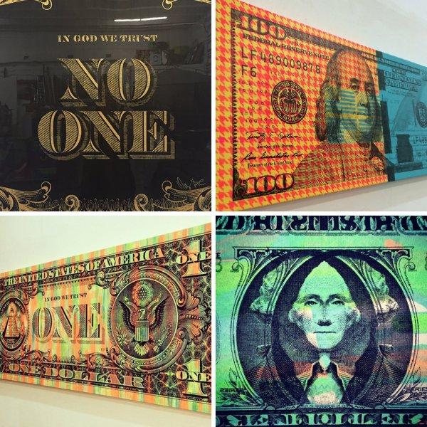 100 Dollar Bill Wall Art