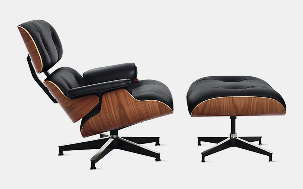 eames lounge chair for sale how to paint leather design within reach herman miller insidehook and ottoman 1956 the goal this piece mimic warm receptive look of a well used first baseman s mitt