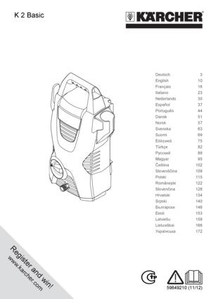 Mode Demploi Karcher K2 Basic