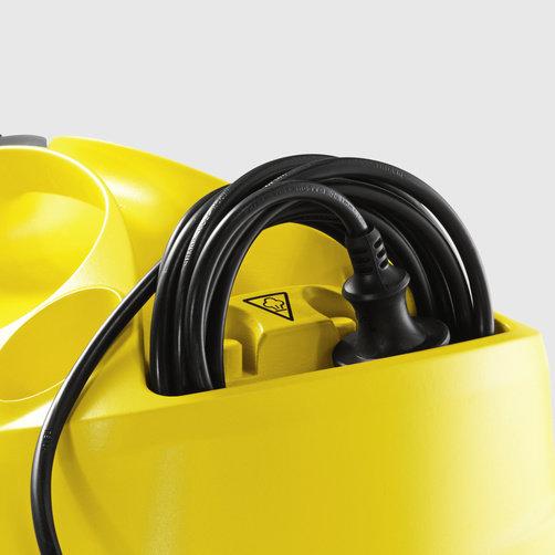 SC 4 EasyFix + set de paños desechables: Compartimento integrado para el almacenamiento del cable