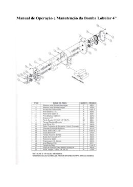 manual de instalação, operação e manutenção bombas bmi