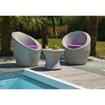 Salon Totem 2 Places En Rsine Tresse Chocolat Mypiscine (5 ...