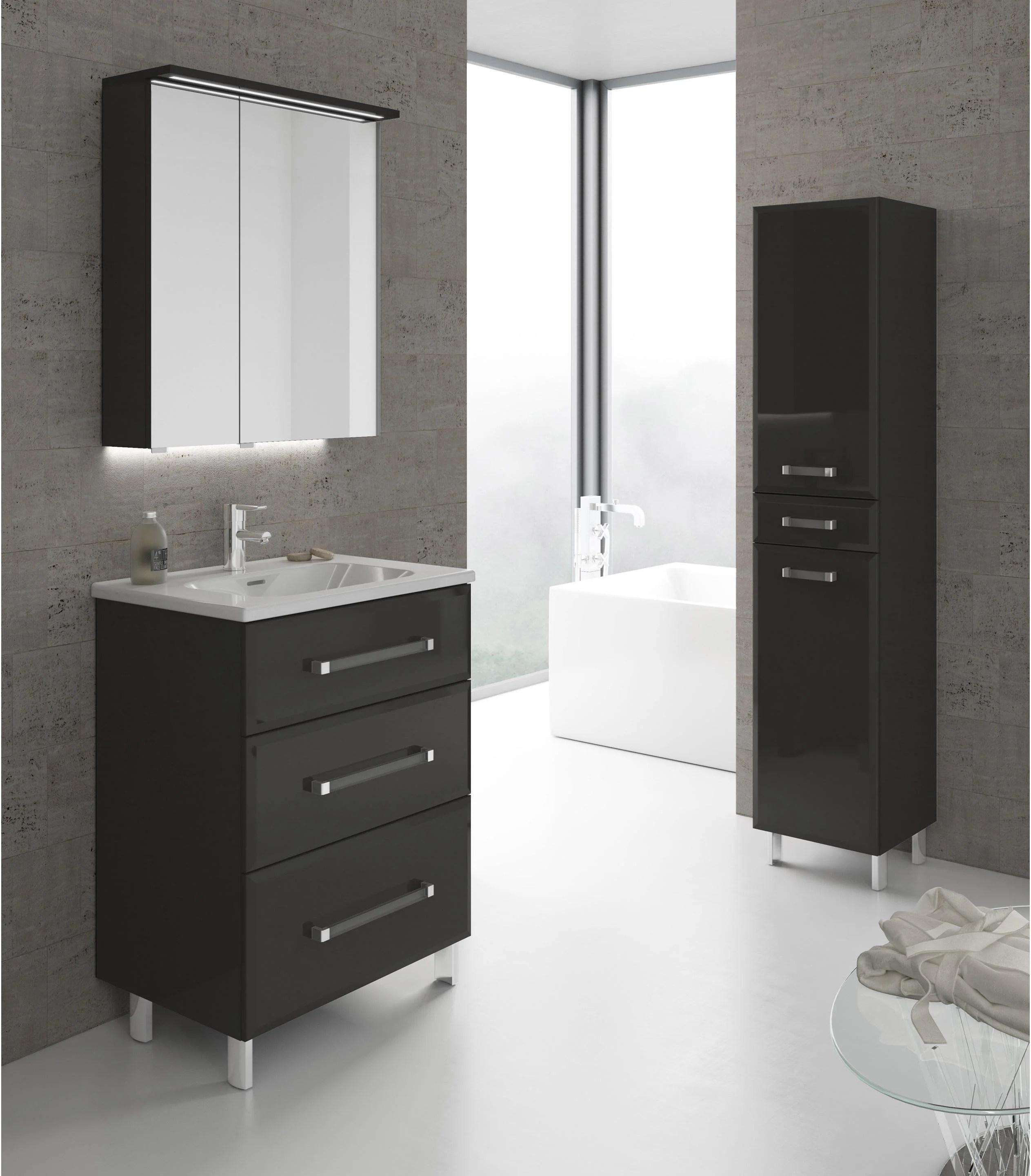 Leroy Merlin Meuble Salle De Bain Collection Opale Bright Shadow Online