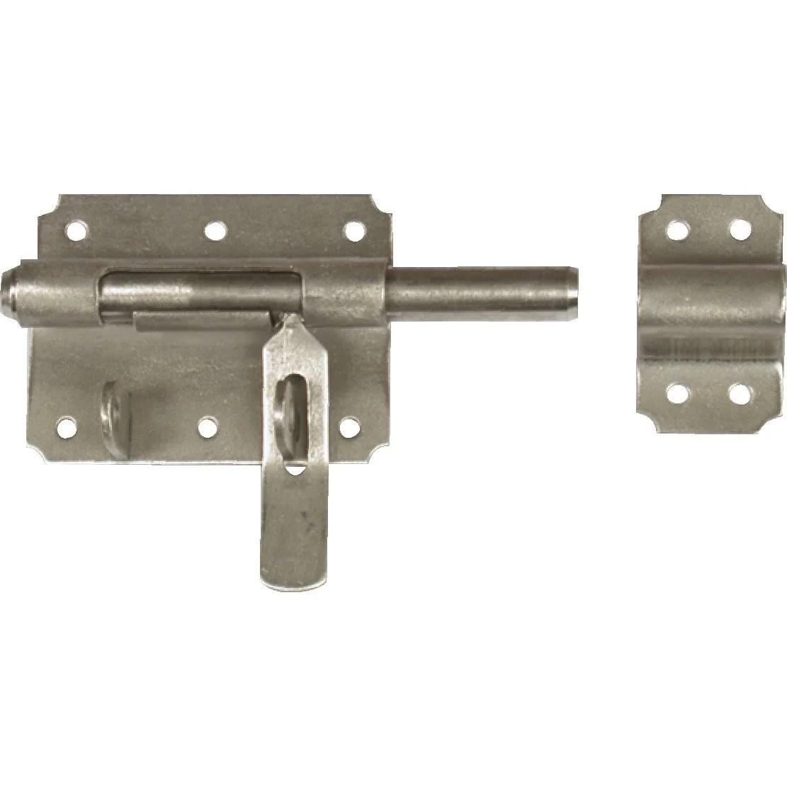 verrou de box porte cadenas inox brosse h 70 x l 140 x p 24 mm