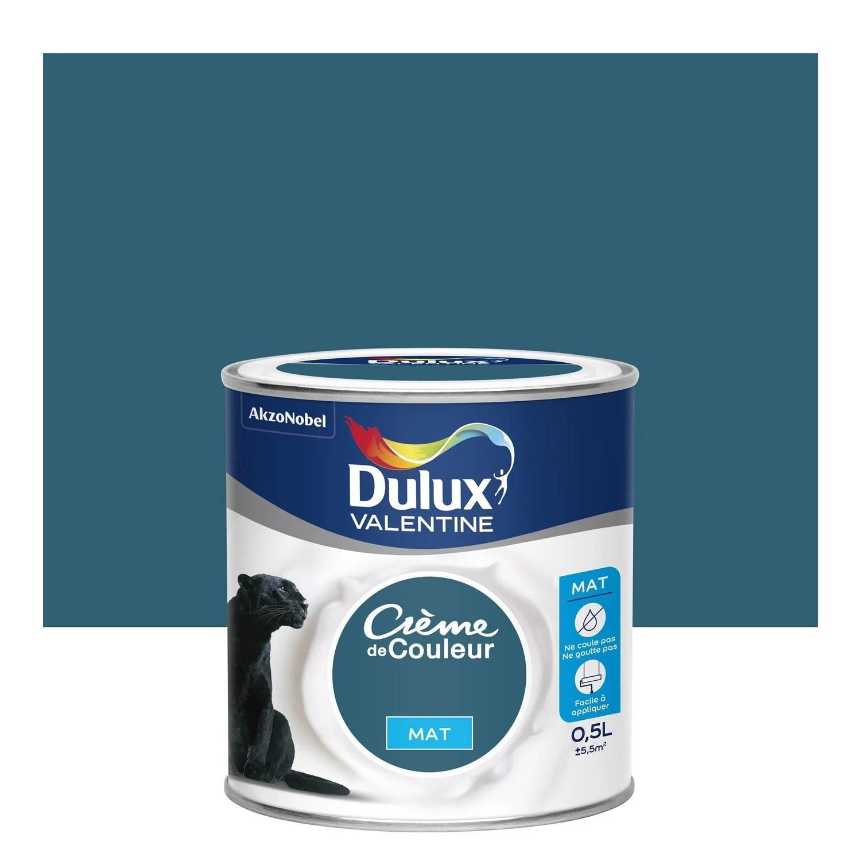Peinture Bleu Paon Mat DULUX VALENTINE Crme De Couleur 0