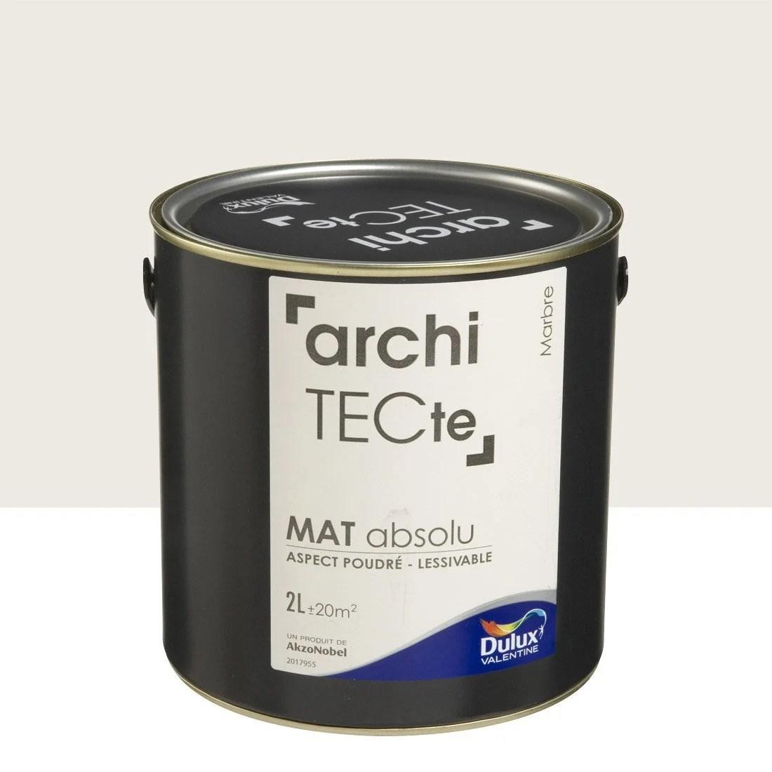 Peinture Beige Marbre Mat DULUX VALENTINE Architecte 2 L