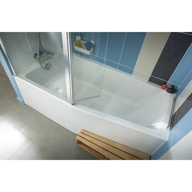 baignoire l 170x l 85 cm jacob delafon sofa bain et douche vidage a gauche leroy merlin