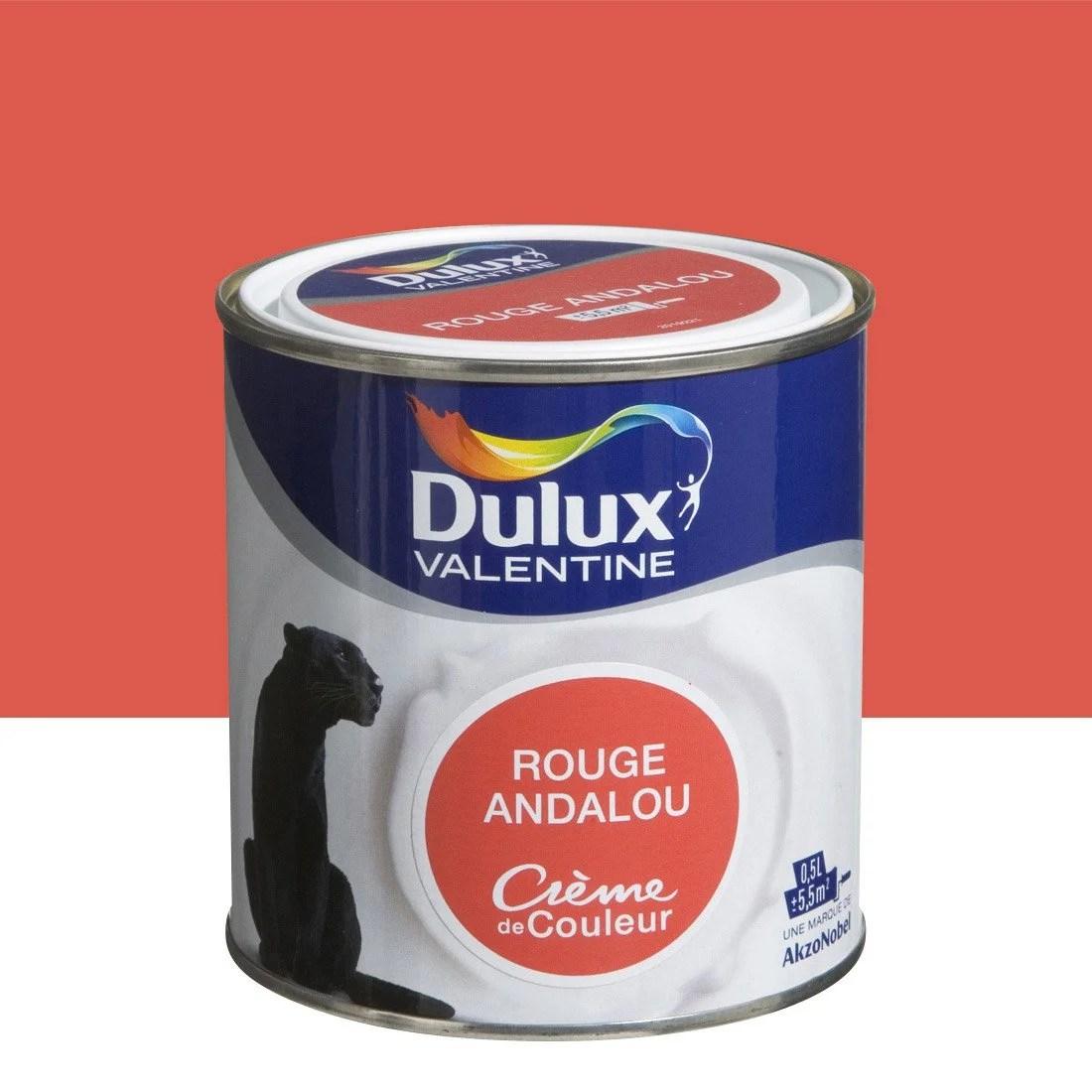 Peinture Rouge Andalou Satin DULUX VALENTINE Crme De