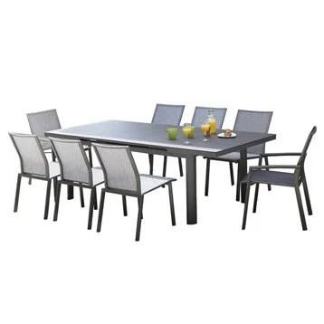 Table de jardin aluminium bois rsine au meilleur prix