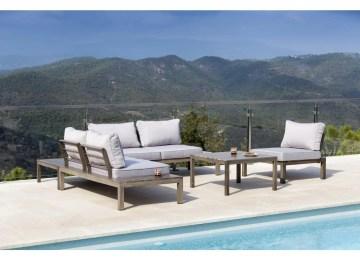 Salon De Jardin Aluminium Thermolaque | Santorin écru