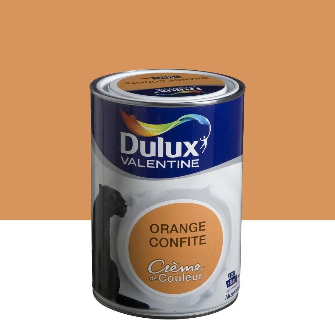 Peinture Orange Confite Satin DULUX VALENTINE Crme De