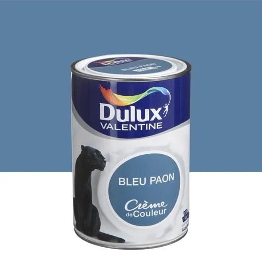 Peinture Bleu Paon DULUX VALENTINE Crme De Couleur 125 L