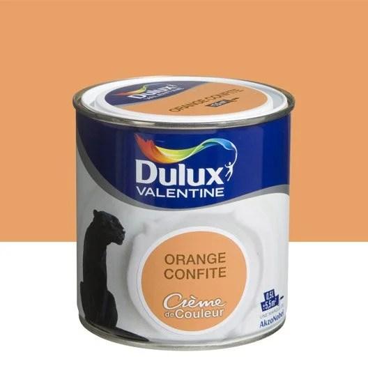 Peinture Orange Confite DULUX VALENTINE Crme De Couleur 0