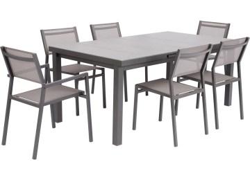 Table De Jardin Extensible Marino Gris | Table De Jardin Extensible ...