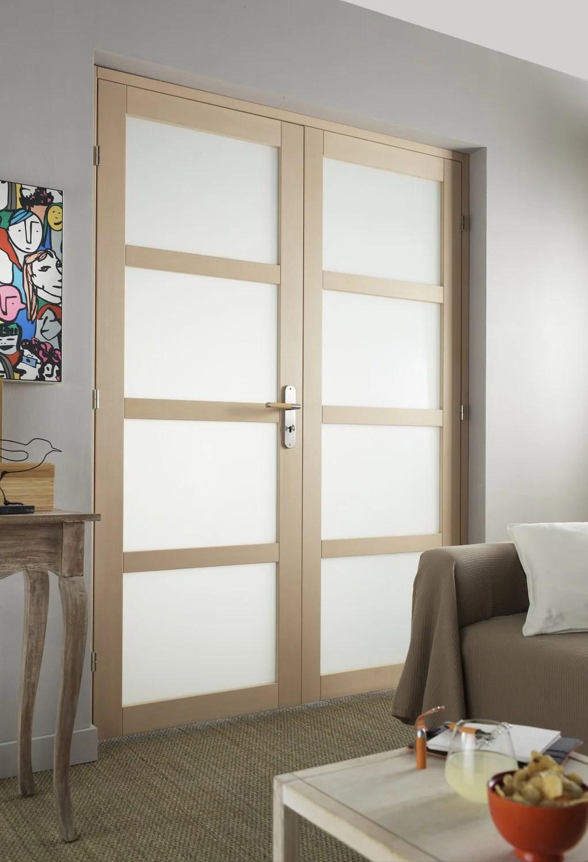 Une double porte pour un salon lumineux  Leroy Merlin