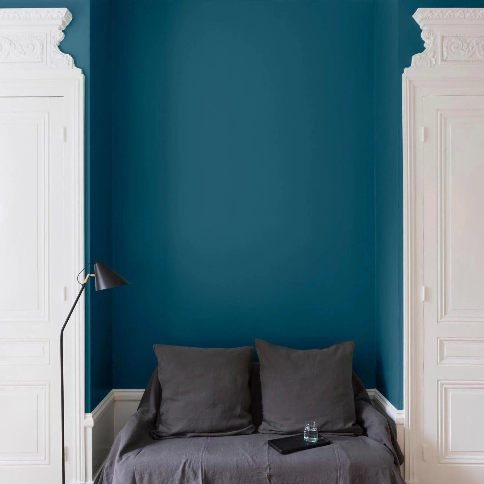 peinture mur boiserie radiateur liberon bleu paon velours 2 5 l