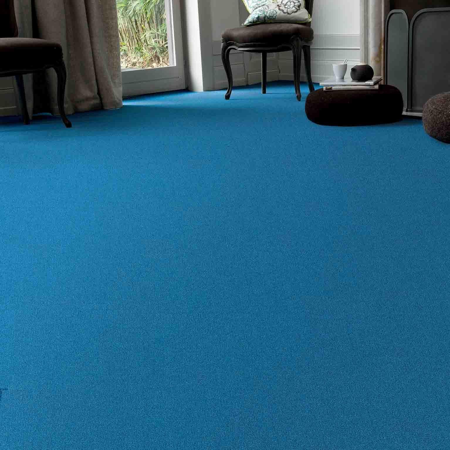 moquette velours ras chine bleu les best 2 165 4 m