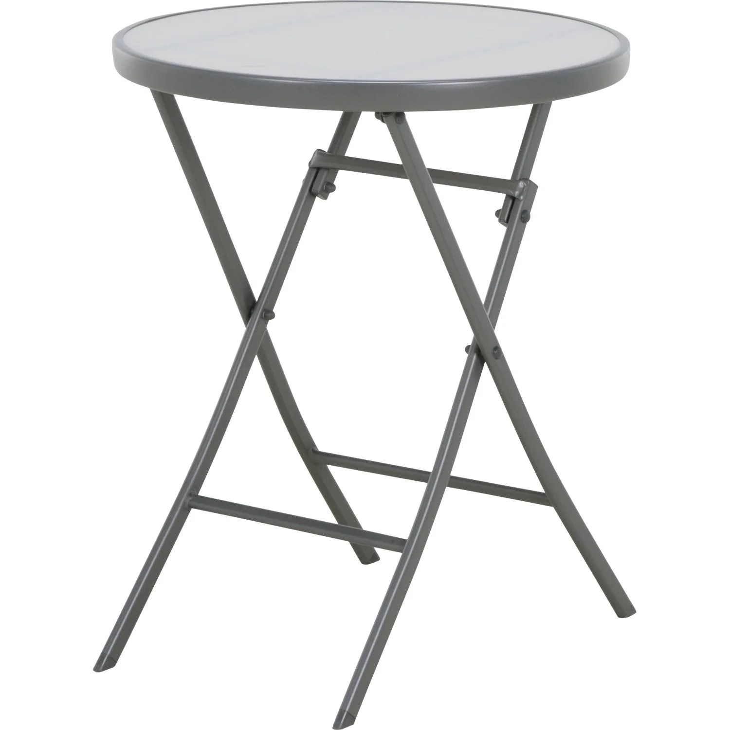 Table Haute Jardin Pliante Table De Jardin Naterial Denver Ronde Gris 2 Personnes