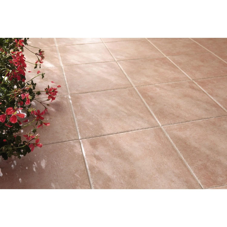 carrelage sol rose effet pierre michigan l 34 x l 34 cm
