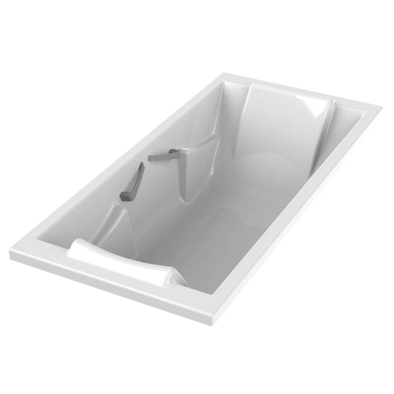 Baignoire Rectangulaire L190x L90 Cm Blanc SENSEA