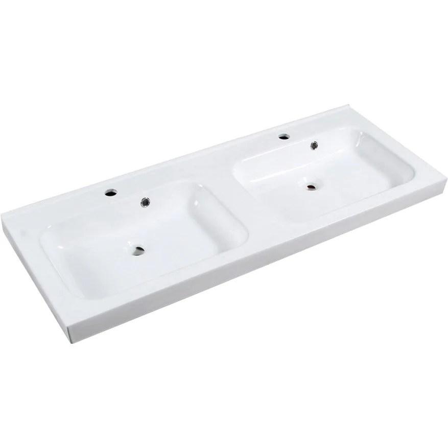 plan vasque double remix ceramique 121 cm