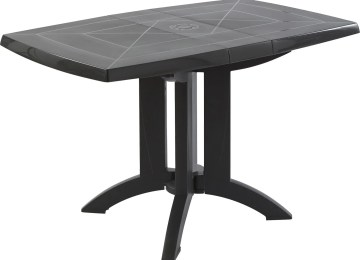 Table De Jardin Ronde Gris Anthracite   Forio Table Basse Ronde ...